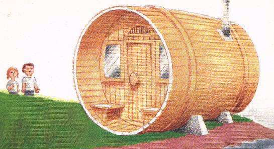 Finnish sauna for Build your own barrel sauna